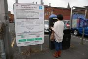 PARKING TALKS: Proposed new parking charges displayed in Abbots Yard, Darlington Picture: ANDY LAMB